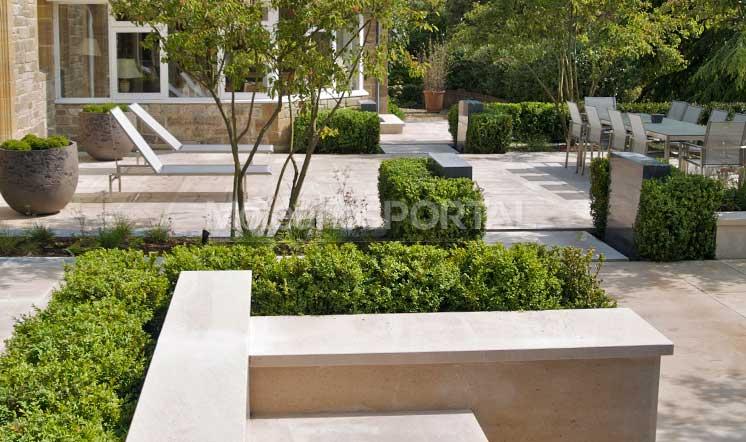 Moleanos Classic limestone garden landscaping