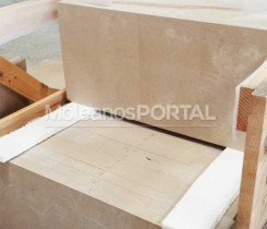 Moleanos limestone cladding packing