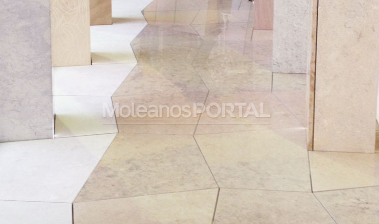 Moleanos Mixed limestone flooring