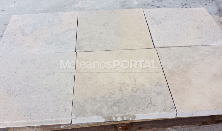 Moleanos Mixed limestone mock-up