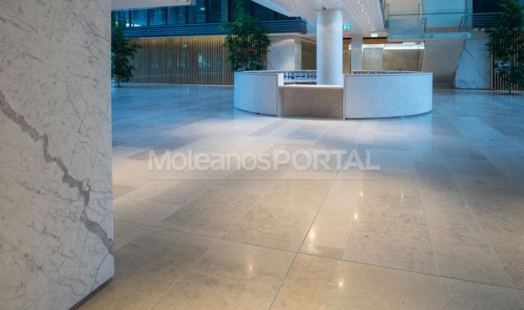 Moleanos Blue limestone floor tiles - Australia